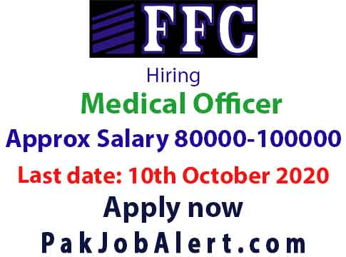 Fauji Fertilizer hiring Medical Officer - Latest Medical Jobs 2020